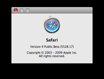 Safari 4 Public Beta 5528.17