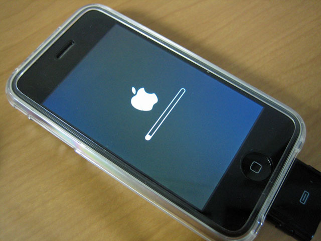 iPhone Software復元中