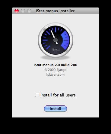 iStat Menu V.2.0 Installer