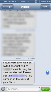 American Express Alert