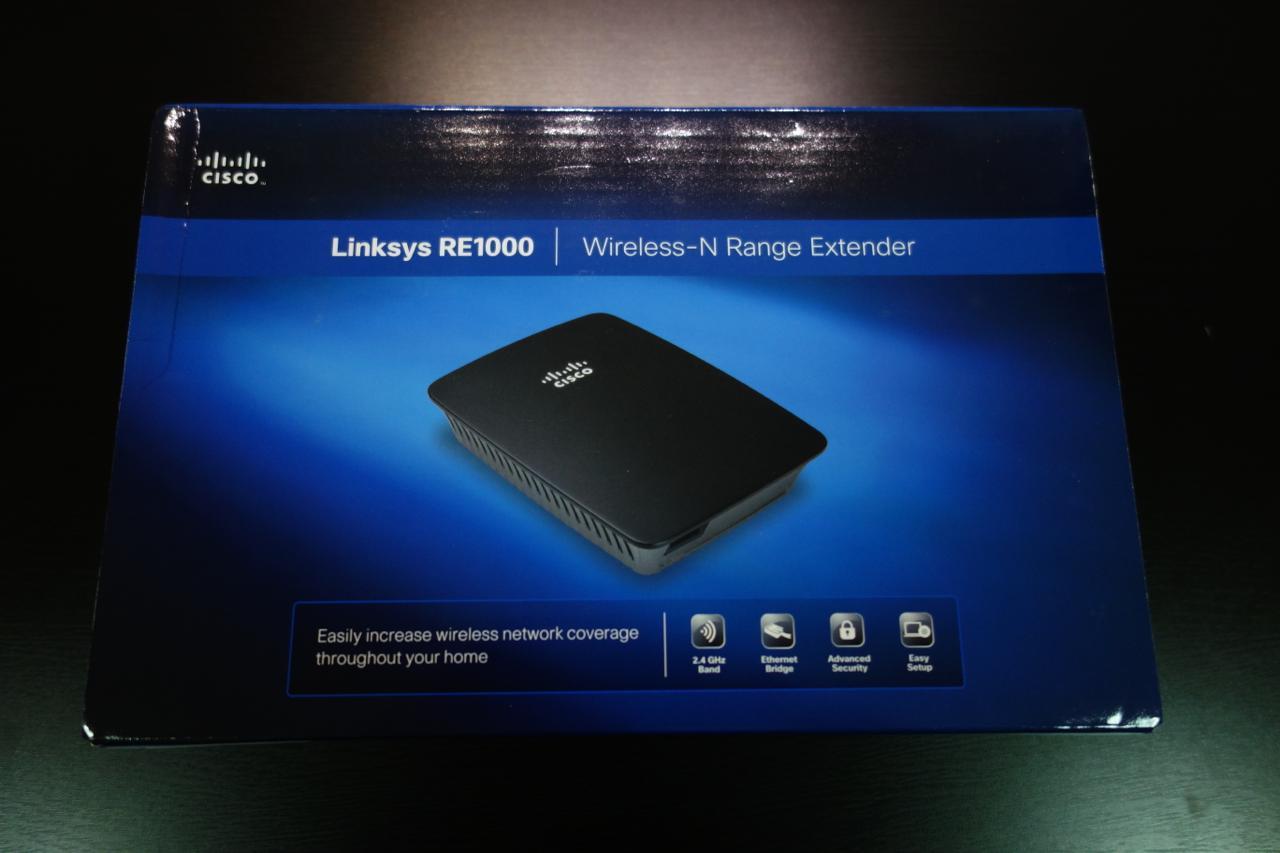 WiFi Range Expander – Linksys RE1000