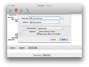 VPN connection AppleScript