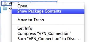 VPN connection AppleScript