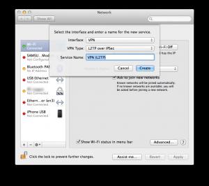 Mac OS X - VPN configuration