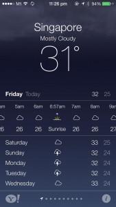 iOS 7 - Weather App