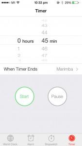 iOS 7 - Clock App