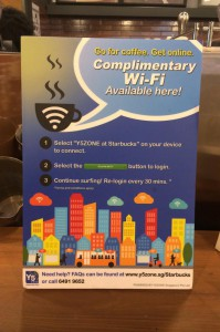 Complimentary Wi-Fi at Starbucks