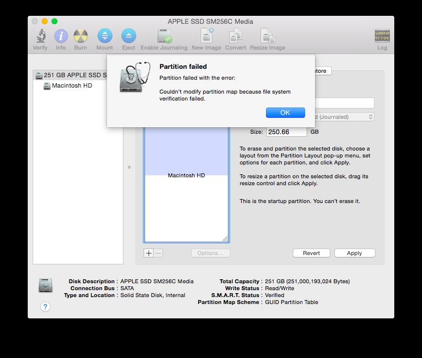 OS X Yosemite Disk Utility