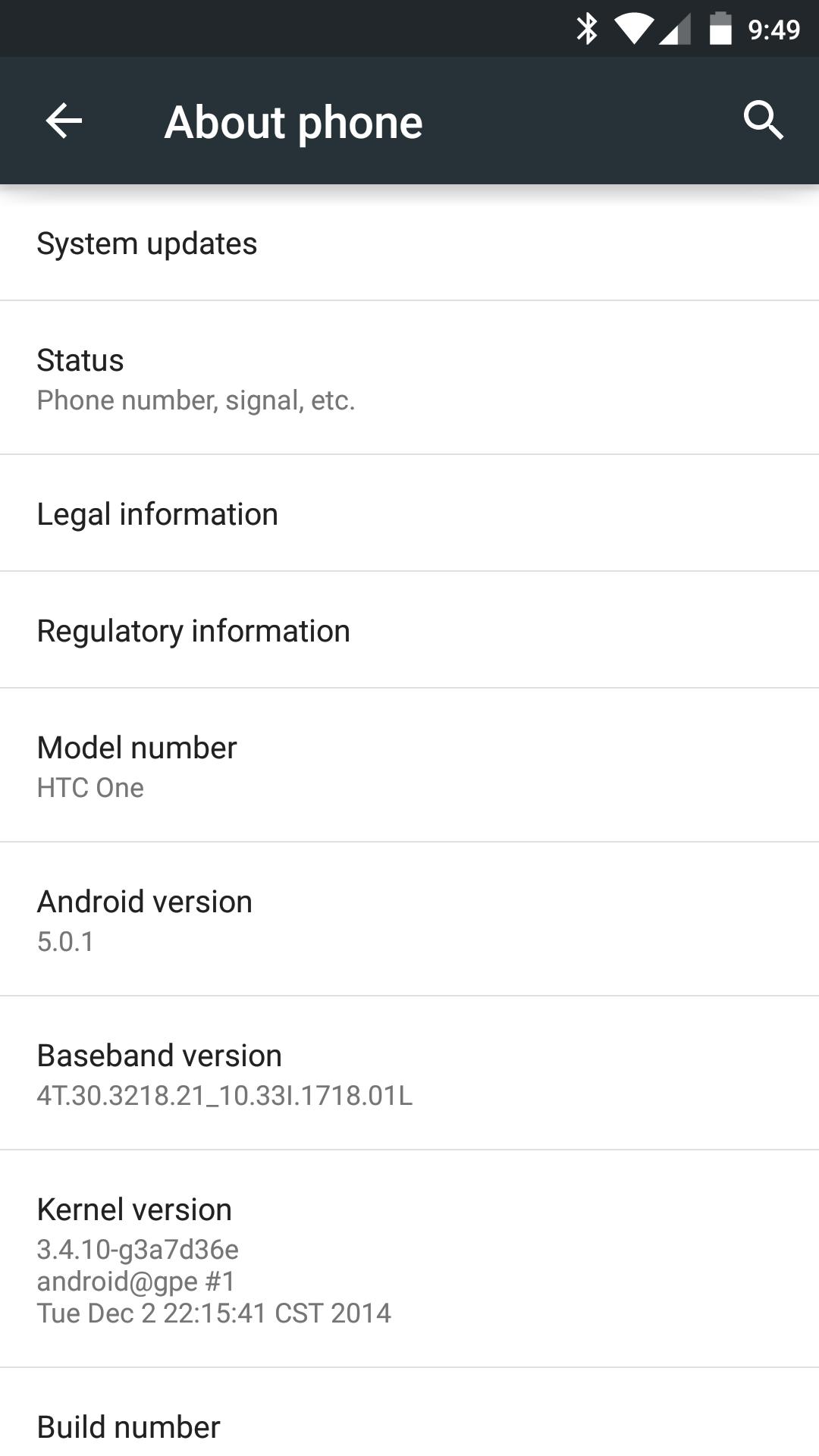 HTC One (m7) - Lollipop