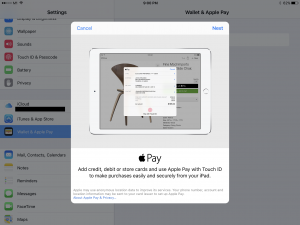 Apple Pay - iPad