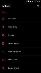 OnePlus 3 System UI Tuner